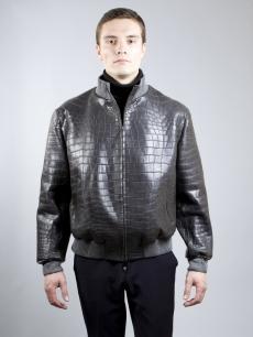 Куртка-пилот из кожи крокодила