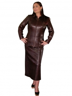 Куртка и юбка из крокодила